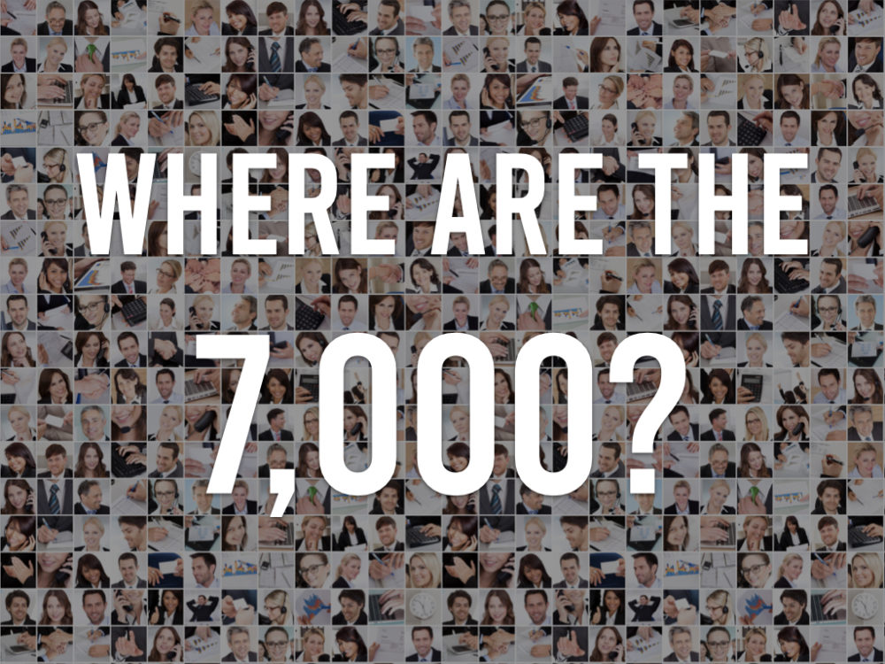 Where are the 7,000? Image