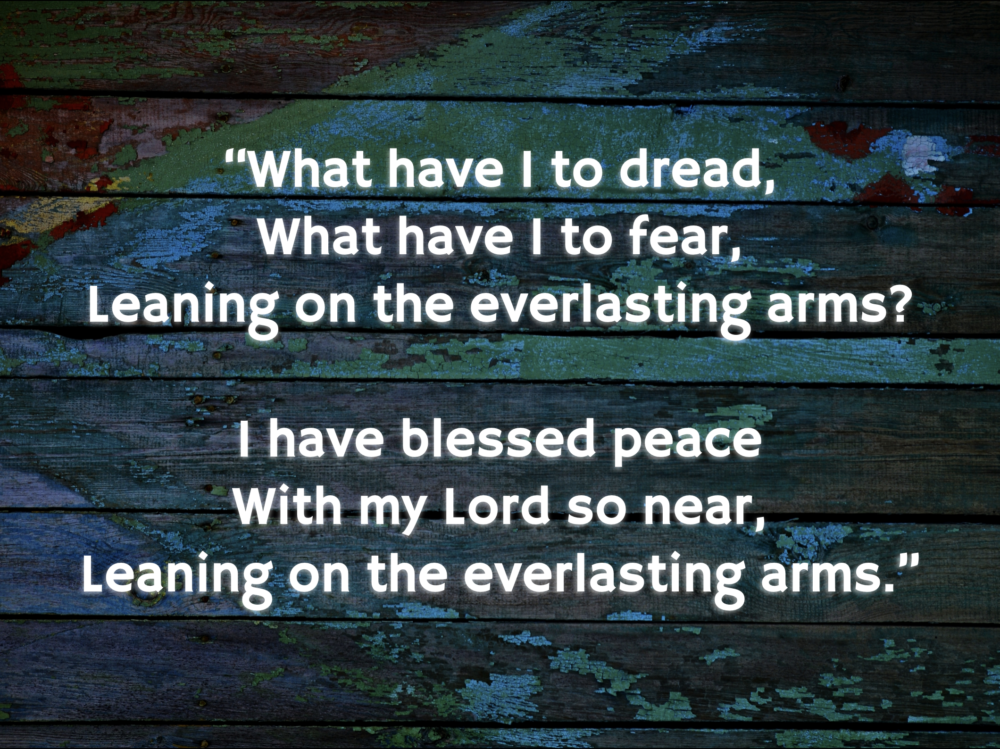 Leaning on the Everlasting Arms Image